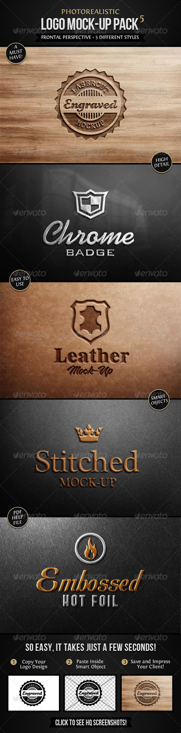 GraphicRiver Photorealistic Logo Mock-Up Pack 5 4112559