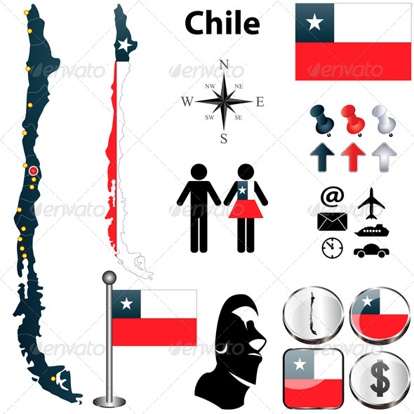 GraphicRiver Map of Chile 4198950