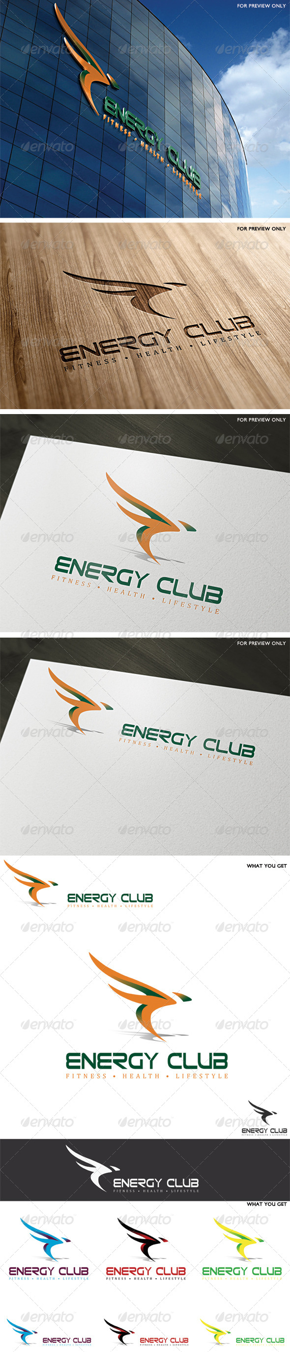 Energy Club Logo Template - Vector Abstract