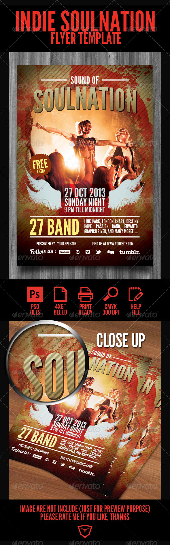 GraphicRiver Sound of Soulnation Flyer Template 4199622