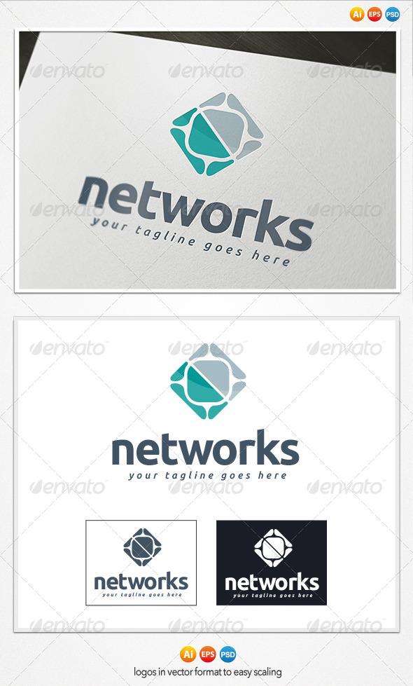 GraphicRiver Networks Logo 4199643