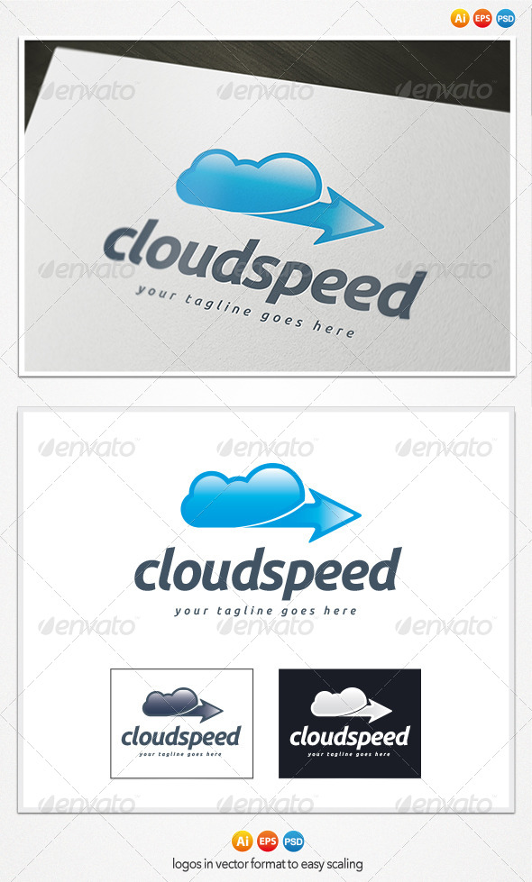 GraphicRiver Cloud Speed Logo 4199680
