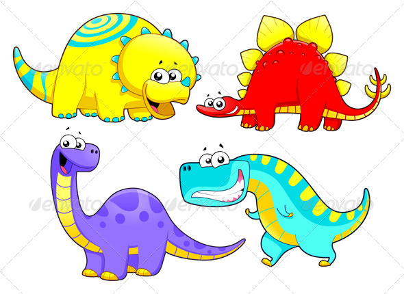 GraphicRiver Dinosaurs Family 4199692