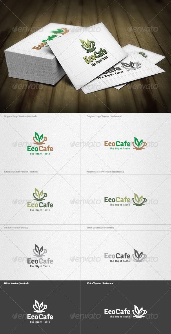 GraphicRiver Eco Cafe Logo 4200159