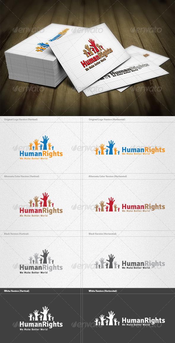 GraphicRiver Human Rights Logo 4200173