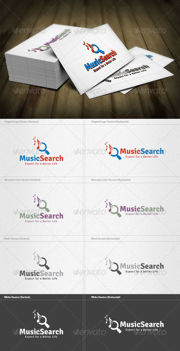 GraphicRiver Music Search Logo 4200219