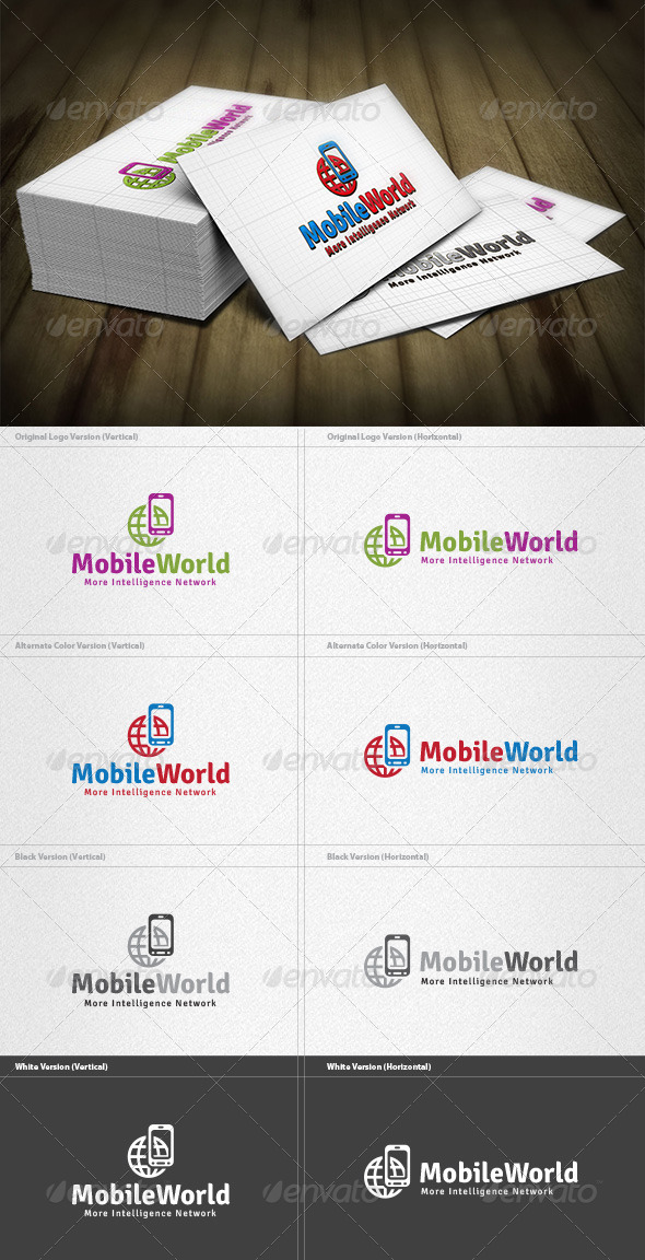 GraphicRiver Mobile World Logo 4200253
