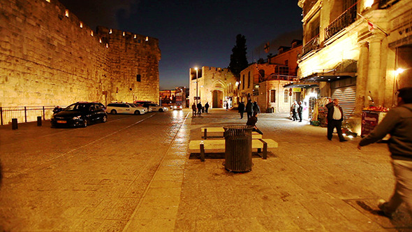 Night Life near Jaffa Gate Jerusalem Israel 3