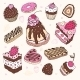 Set of Cute Cakes - GraphicRiver Item for Sale
