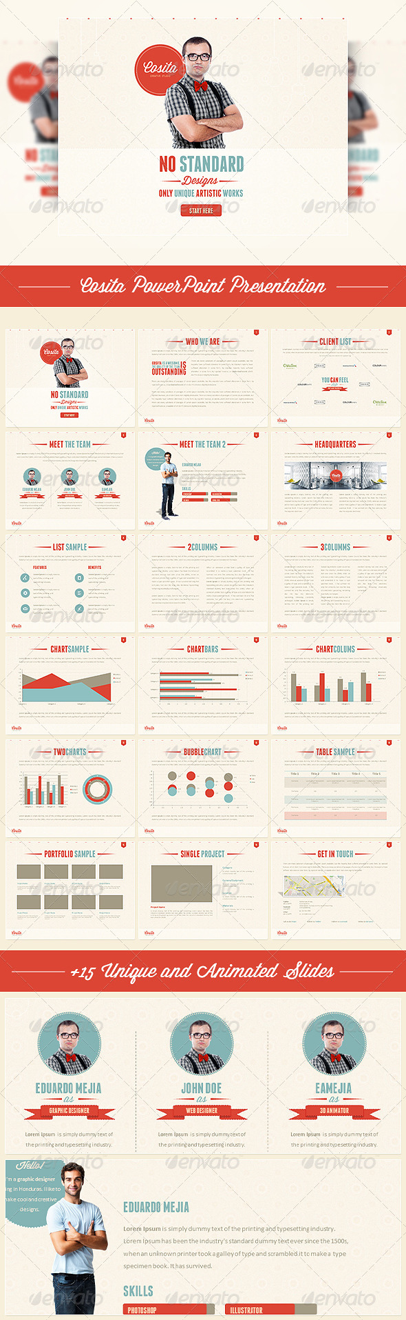 GraphicRiver Cosita PowerPoint Presentation 4085289