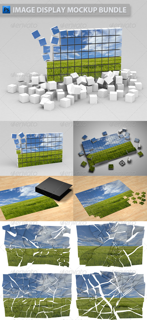 Image Display Mockup Bundle - Miscellaneous Displays
