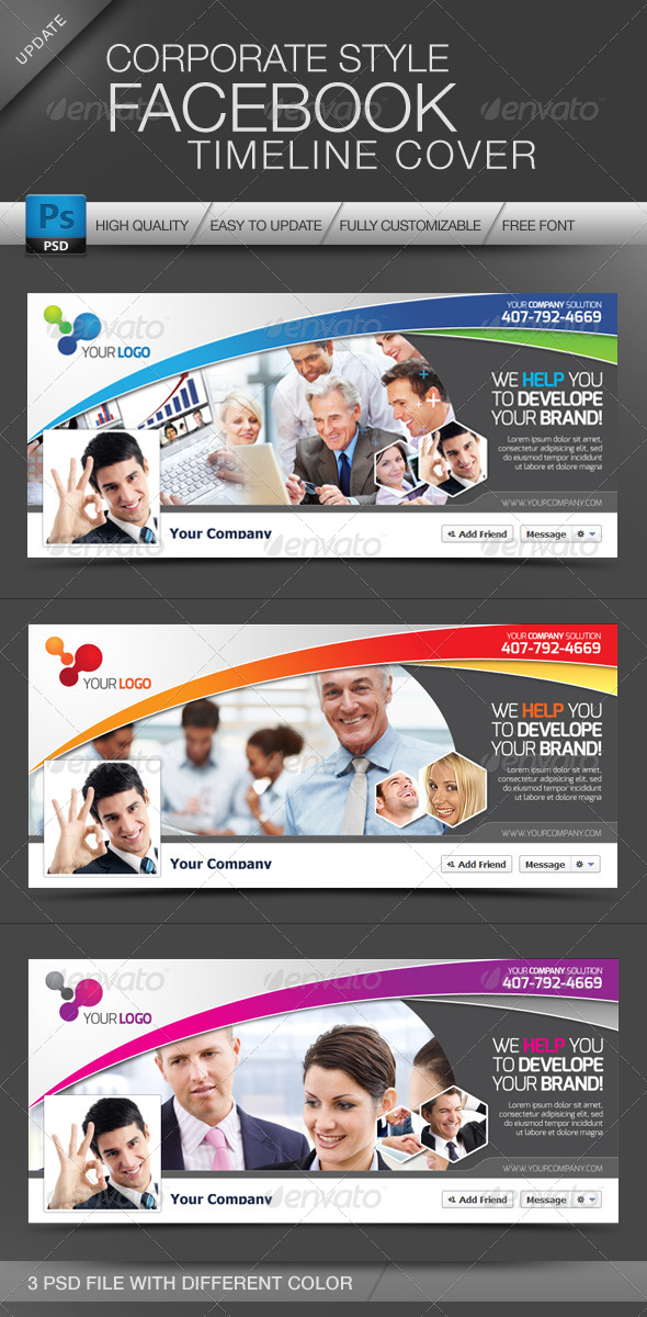 GraphicRiver Facebook Cover Timeline Corporate Style 4113146