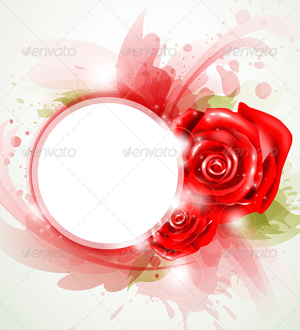 GraphicRiver Red Abstract Rose 4201060