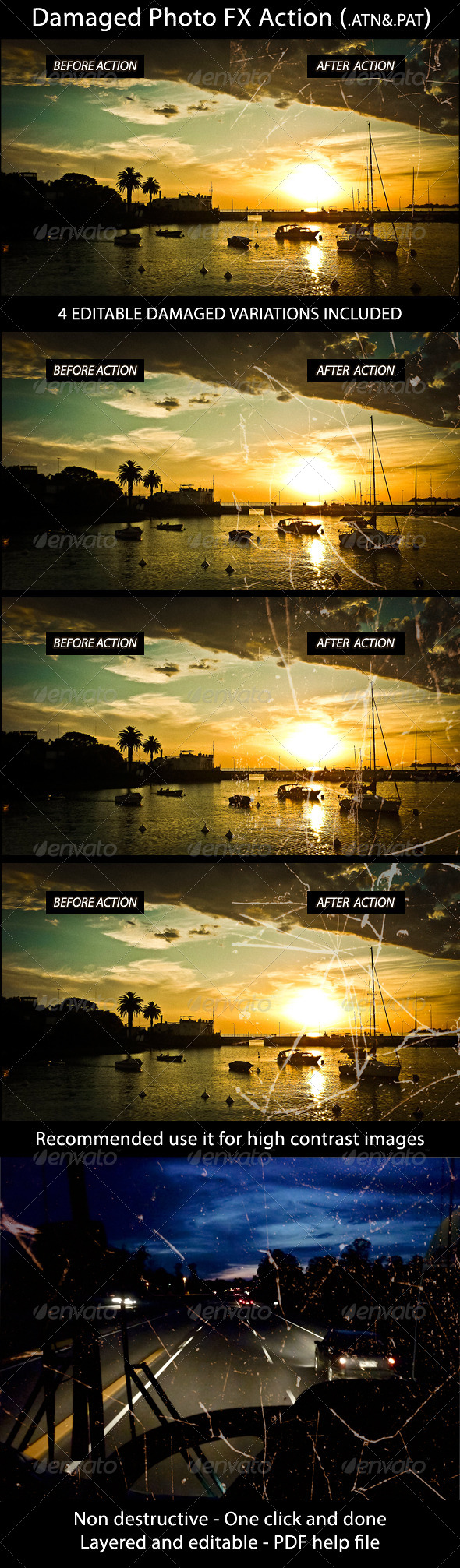 GraphicRiver Damaged Photo FX Action 4201324