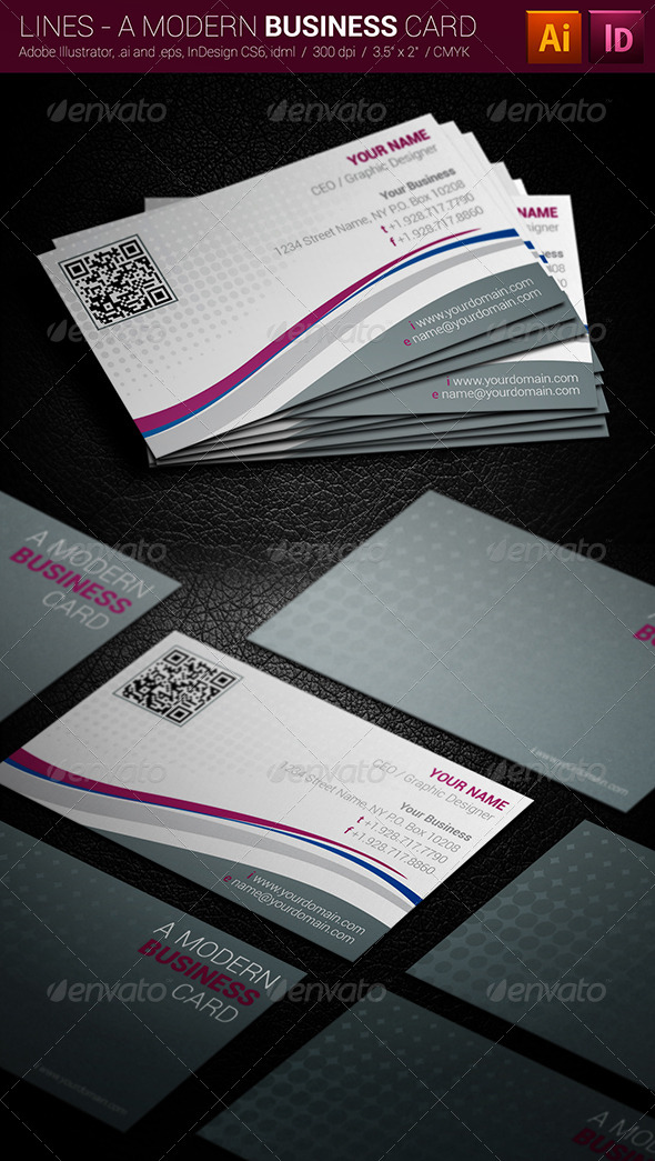 GraphicRiver Lines A Modern Business Card 4202092