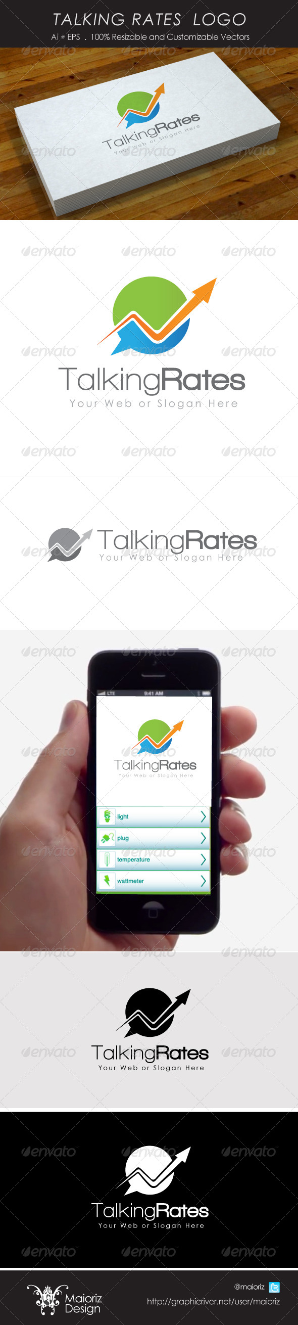 Talking Rates Logo - Vector Abstract