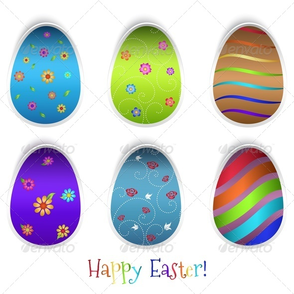Set Of Easter Eggs - Miscellaneous Seasons/Holidays