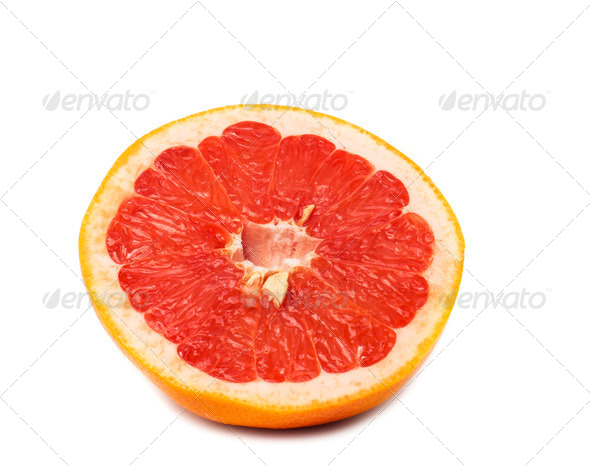 PhotoDune slice of grapefruit isolated on white background with clipping p 4253958