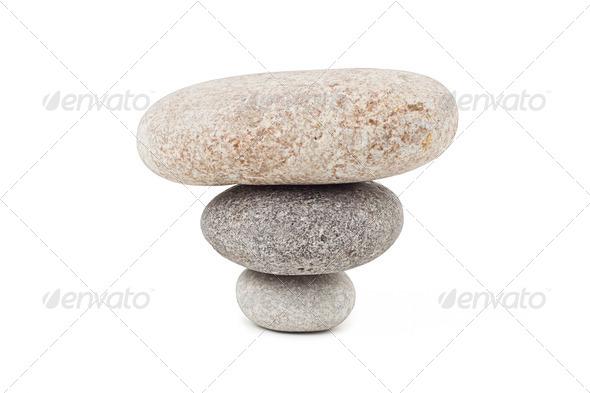 PhotoDune pile of stones isolated on white background 4253964