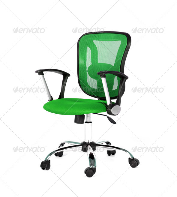 PhotoDune Green office chair 4253969