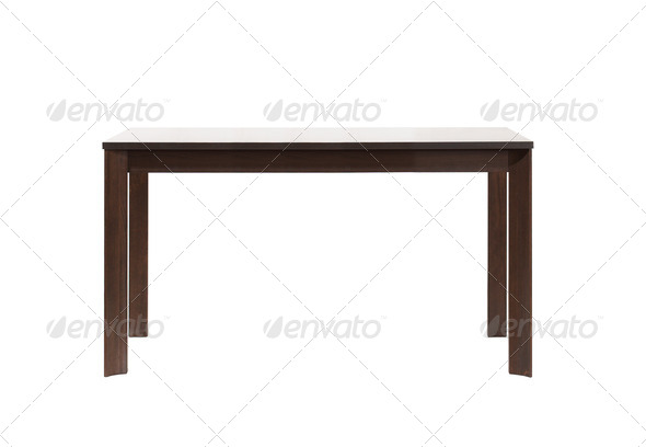 PhotoDune Wooden table on white 4253974
