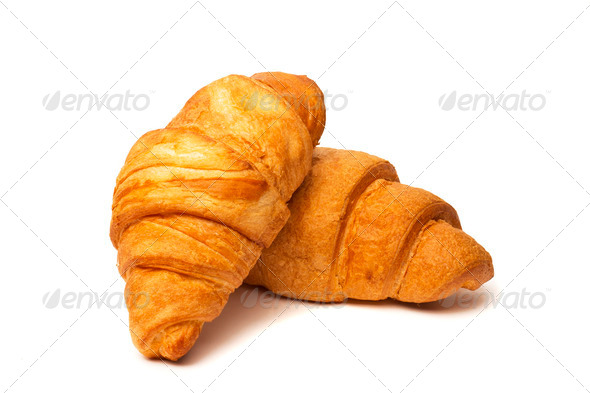 PhotoDune two croissants isolated on white background 4254021
