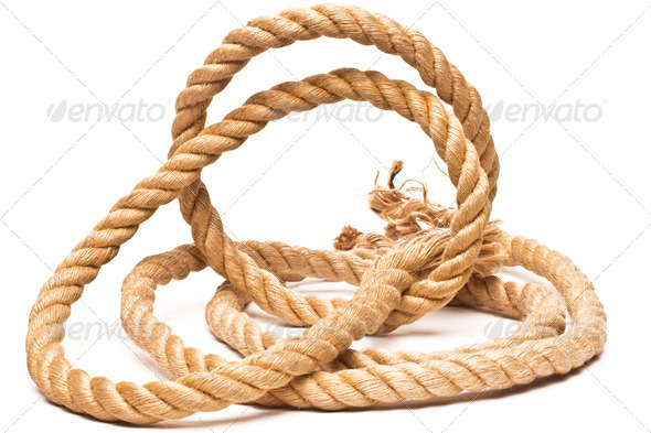 PhotoDune ship rope and knot isolated on white background 4254024