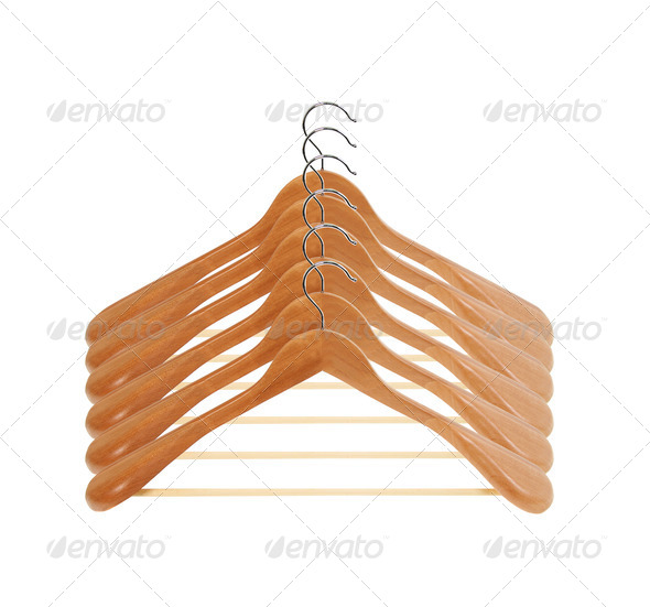 PhotoDune wooden hanger set 4254031