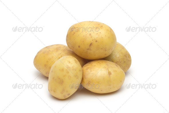 PhotoDune potato isolated on white background close up 4254041