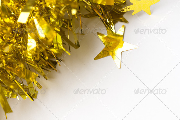 PhotoDune Gold abstract holiday lights background 4254052