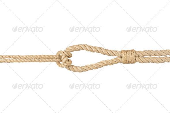 PhotoDune rope with knot isolated on white 4254362