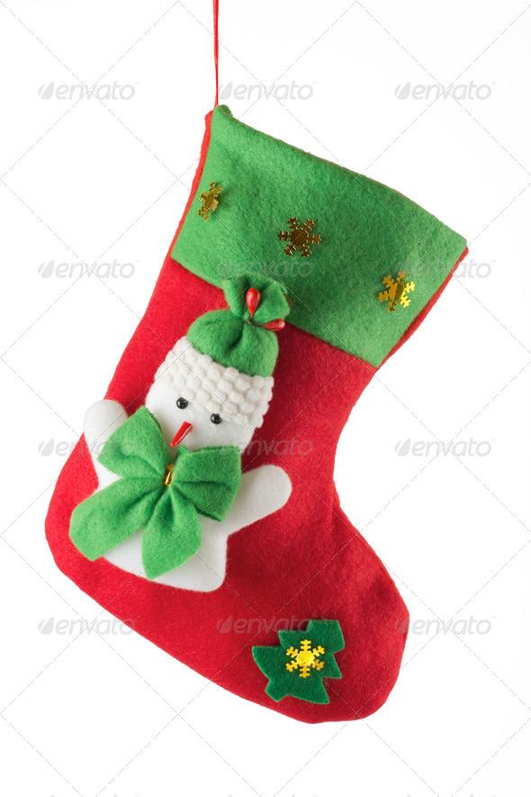 PhotoDune Santa s red stocking 4254369