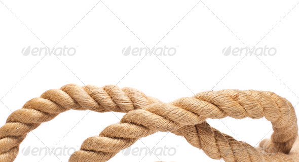 PhotoDune roll of rope isolated on white 4254374