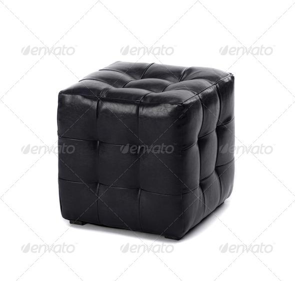 PhotoDune Modern dark brown leather bench 4254381