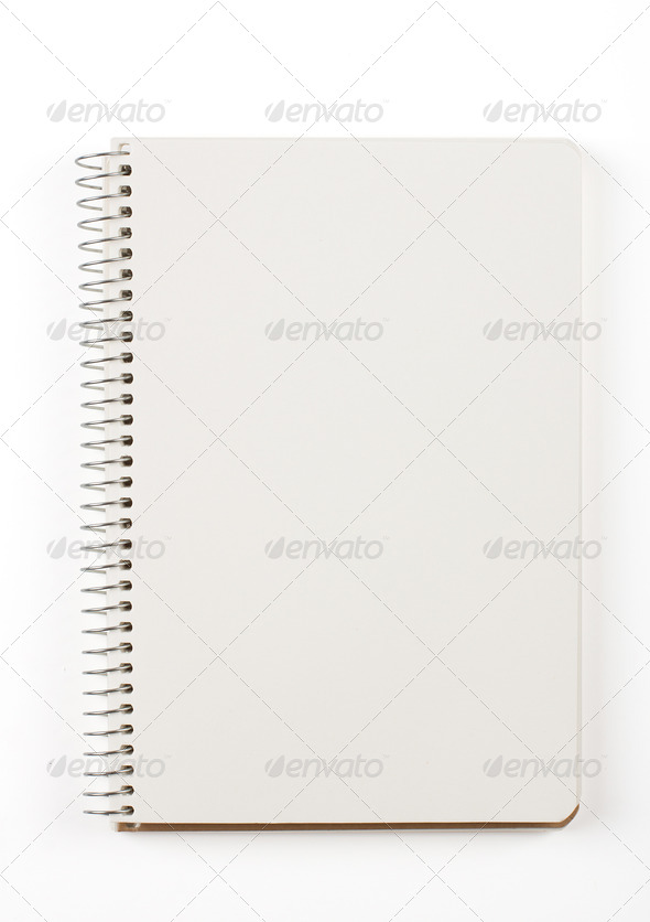 PhotoDune Note book isolated on white 4254385
