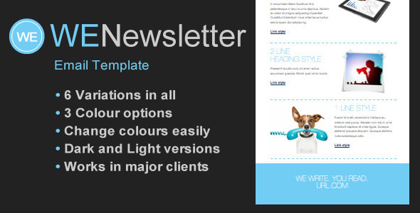 WE Email Newsletter Template