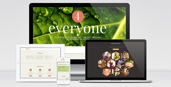 ThemeForest 4Everyone One Page Retina HTML Template 4168920