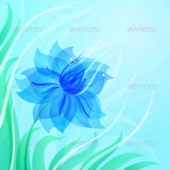 GraphicRiver EPS10 Azure Flower Background 4203226