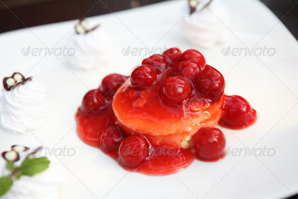 cherry cheese cake - Stock Photo - Images