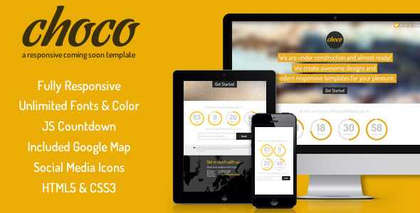 ThemeForest Choco Responsive Coming Soon 4203337