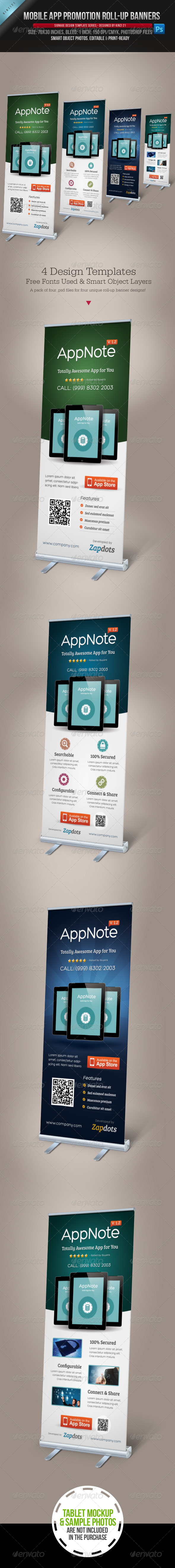GraphicRiver Mobile App Promotion Roll-up Banners 4042603