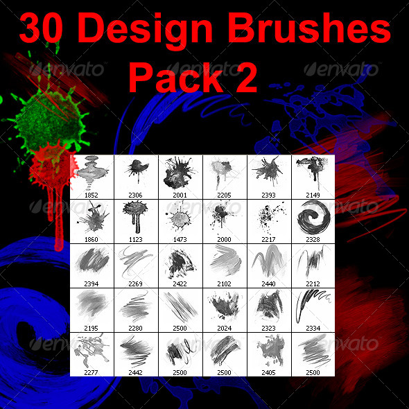 GraphicRiver 30 Design Brushes Pack 2 4203567