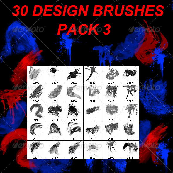 GraphicRiver 30 Design Brushes Pack 3 4203584