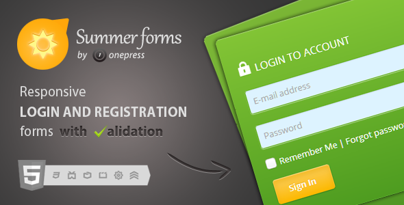 CodeCanyon Summer Forms Login And Registration Forms 4203628