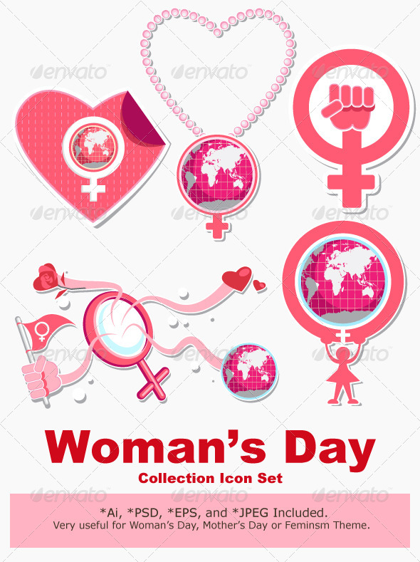 GraphicRiver International Woman Day Symbol and Icon 4203704