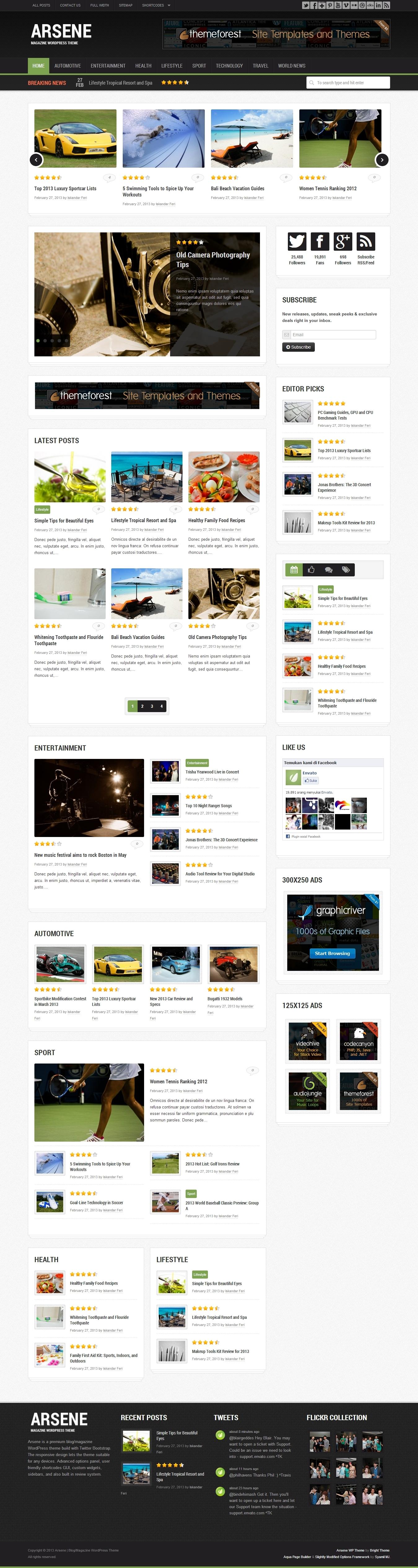 Arsene - Blog/Magazine WordPress Theme