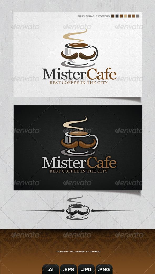 GraphicRiver Mister Cafe Logo 4203710