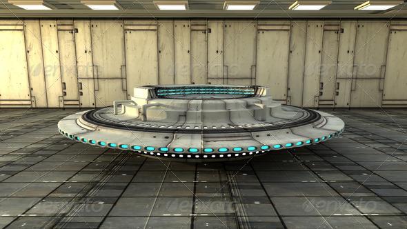 PhotoDune Futuristic interior SCIFI 4213523
