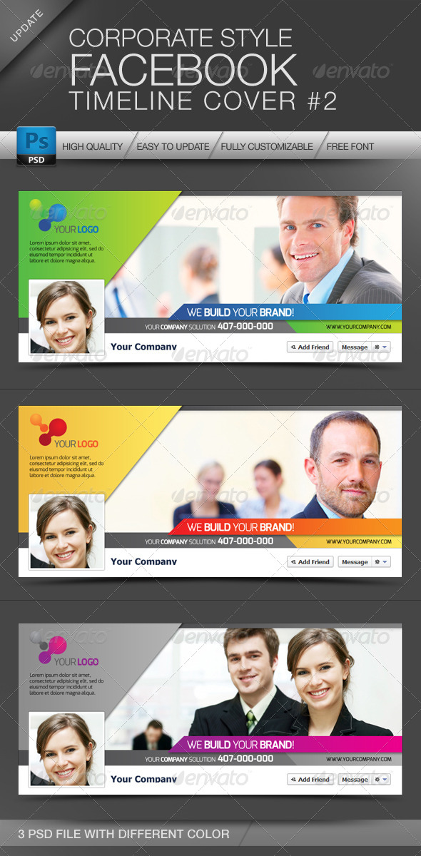 GraphicRiver Facebook Cover Timeline Corporate Style No.2 4117961