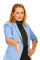 Business woman giving hand shake - PhotoDune Item for Sale